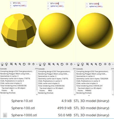 STL Resolutin Comparison